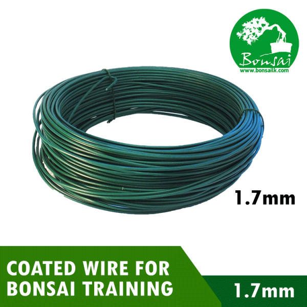 Bonsai Training PVC Coated Wire 1.7mm Green Color (500g)